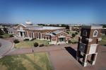 Mckinney Campus Libray & Clocktower Aerial View