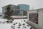 Collin Higher Education Center in winter